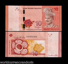 MALAYSIA 10 RINGGIT 2012 REPLACEMENT ZB KING FLOWER UNC CURRENCY BILL BANK NOTE