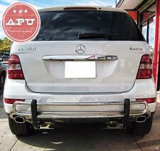 APU 2006-2011 Mercedes ML W164 Stainless Rear Bumper Guard protector Double Tube