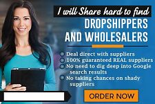 I will share hard to find dropshippers and wholesalers