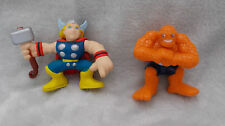 "Marvel super hero squad-the thing & thor figures - 2.5"" environ"