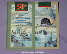 1994 ROYAL MINT SPECIMEN 50p COIN IN FOLDER - D-Day Landings Anniversary.