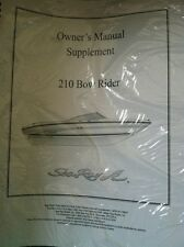 Sea Ray Owner's Manual Supplement 210 Bow Rider