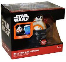 Star Wars BB-8 USB Car Phone Tablet Charger w/ Lights, Sound, Motion NIB Disney