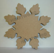 SNOWFLAKE SHAPE -160mm x 18mm/WOODEN BLANK CRAFT SHAPES/CHRISTMAS