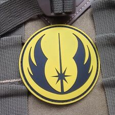 STAR WARS JEDI MORALE 3D MILSPEC TACTICAL AIRSOFT PVC  VELCRO PATCH YELLOW