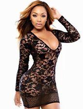 Plus Size Lingerie 3X Stretch Floral Lace Chemise SEXY Scoop Neck Dress Sz 14 16
