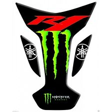 Paraserbatoio Yamaha R1 Nero Monster wings Black Tank Pad sticker protection