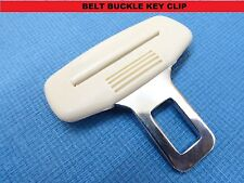 VAUXHALL CREAM SEAT BELT ALARM BUCKLE KEY CLIP SAFETY CLASP STOP