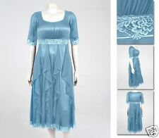 NEW!  Zaftique GALA DRESS Grey Blue (Last One Left!) 1Z / 16 18 / XL 1X