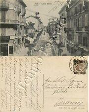 Cartolina di Asti, banca negozio di fotografia e studio dentistico