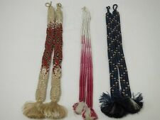 #3430 Silk Haori-Himo Ties 3pcs Set Japanese Kimono Accessory
