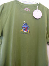 Life is Good HOUSE HOME We are Family women's S/S tee shirt size M Green