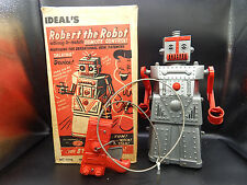 1950's vintage Ideal toys ROBERT THE ROBOT w/ original box & remote control old!