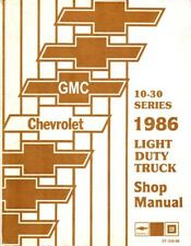1986 Chevrolet GMC Truck Van Blazer Suburban Chassis Shop Service Repair Manual