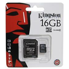 Genuine Kingston 16GB MicroSDHC Class 4 Flash Card With Adapter Fast UK Delivery