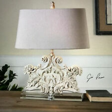 Uttermost Schiavoni Ivory Stone Table Lamp 26658 Lamp NEW