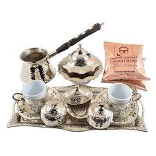 16 Stk. Türkisch Griechisch Arabisch Kaffee Set Kanne Tasse Gawa Tablett