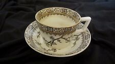 LOVELY CUP & SAUCER--EJD BODLEY, BURSLEM, HILL POTTERY, CROWN WORKS, ENGLAND