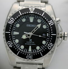 SEIKO OROLOGIO PROSPEX KINETIC DIVER'S 200M BLACK WATCH UOMO ★AFFARE★SKA371P1