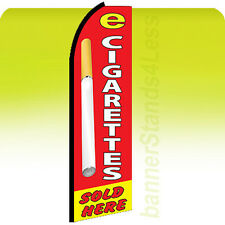 Feather Swooper Banner Vapor Shop Sign Flag 11.5' - E CIGARETTES SOLD HERE rq