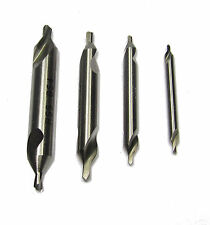 RDGTOOLS SET OF 4 CENTRE DRILLS ( BS1,2,3 & 4 ) METAL LATHE WORKING TOOLS