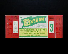 University of Oregon Ducks UO vs. WSU Cougars Football 1960 Vintage Ticket NCAA