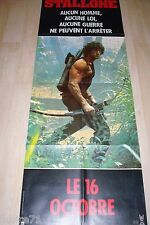 stallone RAMBO 2  LA MISSION  !  affiche cinema model tres rare