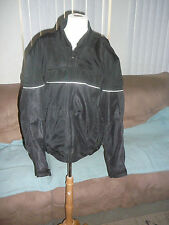 EXCELLENT Fieldsheer Men's Motorcycle Leather Jacket with Pads - Black - Large
