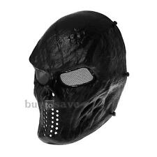 Black Skull Cosplay Full Face Mask Tactical Paintball Airsoft Protect Safety