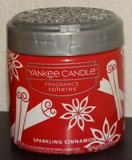 Yankee Candle Sparkling Cinnamon Fragrance Spheres Neutralizing Beads New