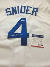 DUKE SNIDER autographed signed Brooklyn Dodgers Jersey PSA/DNA #S1999