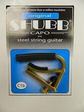 Shubb Guitar Capo Acoustic Electric ~Brass~ New C1B ~Free U.S. Shipping~