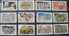 Lot de 12 timbres oblitérés FRANCE 2013 Art gothique N°2