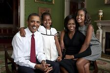 PRESIDENT BARACK OBAMA MICHELLE AND FAMILY 8X10 GLOSSY PHOTO PICTURE