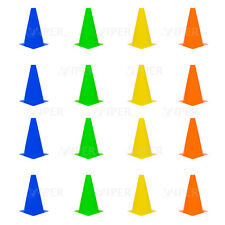 16x Agility Cone Soccer Football Training roller skating Sport Safety Marker