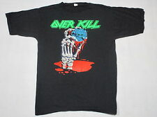 Overkill Blood Money Europe Tour 92 T-Shirt Metal  Trash Hard Rock Vintage Gr XL