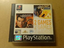 PS1 GAME / JAMES BOND 007: TOMORROW NEVER DIES + WORLD NOT ENOUGH -PLAYSTATION 1
