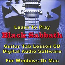 BLACK SABBATH Guitar Tab Lesson CD Software - 141 Songs