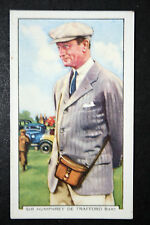 Senior Horse Racing Steward    Original 1930's Vintage Colour # Card