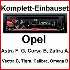 Set COMPLETO OPEL VECTRA B TIGRA OMEGA CALIBRA JVC kd-r471 Autoradio USB mp3 AUX