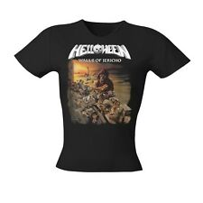 HELLOWEEN - Walls Of Jericho  Girlie Girl Damen Woman Shirt - Größe Size L - NEU