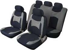 LAGUNA SECA UNIVERSAL FULL SET SEAT PROTECTOR COVERS GREY & BLACK FOR DAIHATSU