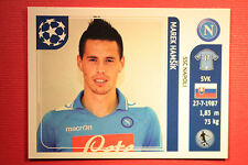 PANINI CHAMPIONS LEAGUE 2011/12 N 69 HAMSIK NAPOLI WITH BLACK BACK MINT!!
