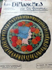 VTG 1920s PARIS CRAFT & SEWING PATTERN MAGAZINE LES Dimaches De La Femme 1924