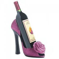 Pink Rose High Heel Shoe Wine Bottle Holder