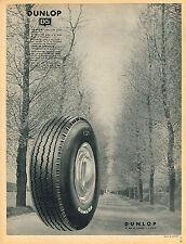 PUBLICITE ADVERTISING 025  1954  DUNLOP pneus D5 par R SCHALL