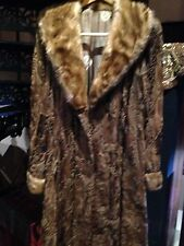 Vintage Real Lamb And Mink Amber Toned Fur Coat