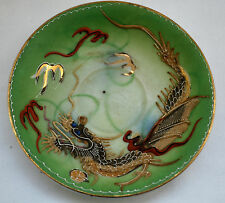 Raised Scaled Dragon Ware 3D Saucer Dish Vintage Oriental Japan Hand Painted