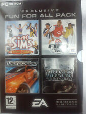 Pack 4 videogiochi -The Sims-Fifa 2004-Need for Speed Underground-Medal of Honor