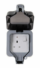 BG Nexus WP21 IP66 1Gang Weatherproof Single Outdoor Switched Socket 13A